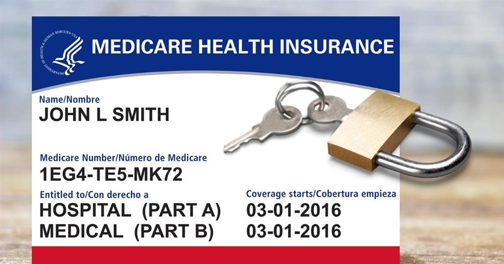 Medicare card with lock