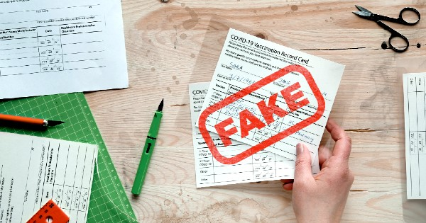 Don't Buy Fake COVID Cards or Test Results